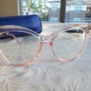 Pinup Rockabilly pink Cateye fashion glasses